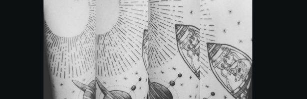 Laika nello spazio, graphic tattoo