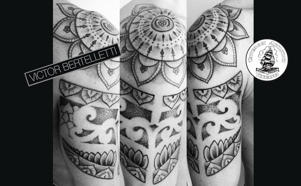 Tatuaggio dotwork a Verbania by Victor Bertelletti