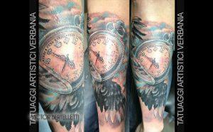 Orologio da taschino, in stile realistic color realizzato da Victor Bertelletti