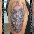 Harley Quinn, la bella e cattiva di Suicide Squad. Tatuaggio realizzato da Victor Bertelletti