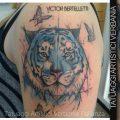 La Tigre, tatuaggio watercolor & sketch style realizzato da Victor Bertelletti