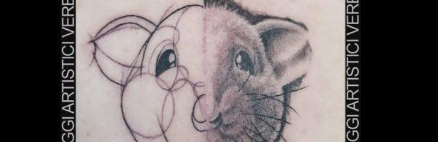 Ratto in versione sketch style realistico