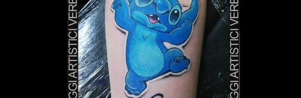 Stitch, l'esperimento genetico. Tatuaggio blu