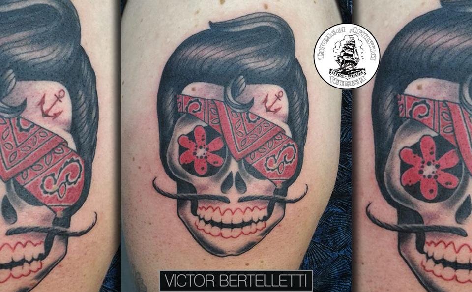 Famoso Tattoo traditional, il teschio con la bandana ~ Victor Bertelletti QD26
