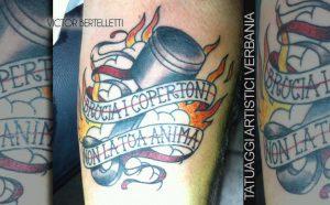 Tatuaggio hot rod in old school color
